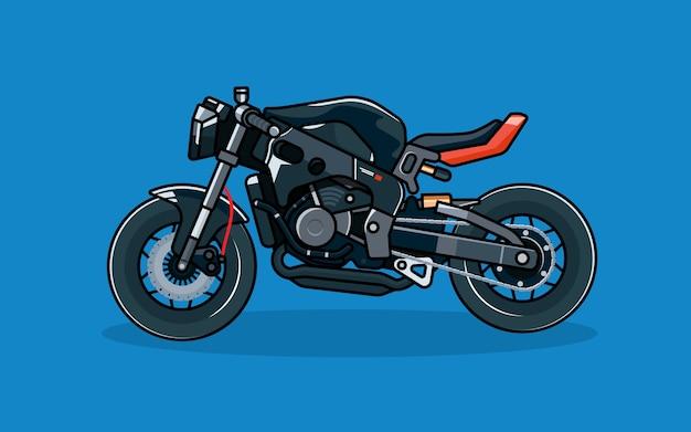 Moto de course modifiée moderne