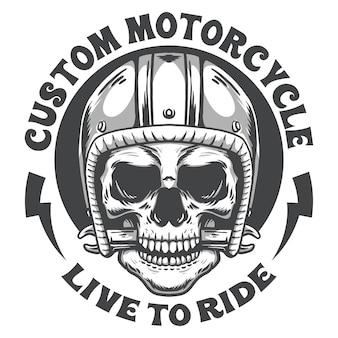 Moto crâne vintage