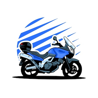 Moto de cyclotourisme aventure