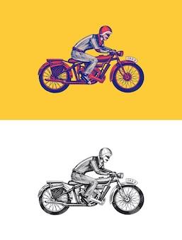 Moto pour les modèles de club de motards vintage emblème personnalisé étiquette insigne feu racer pour t-shirt