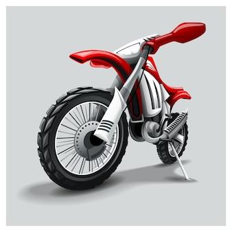 Moto rouge tout-terrain
