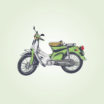 Moto vintage rétro