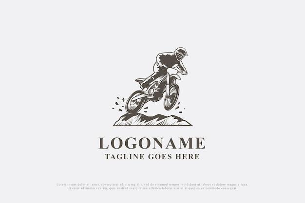 Motocross de conception de logo vintage