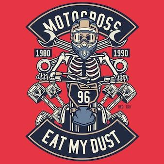 Motocross mange ma poussière