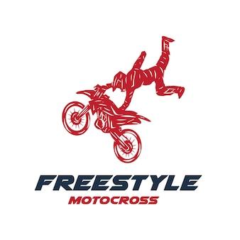 Motocross saut ilustration