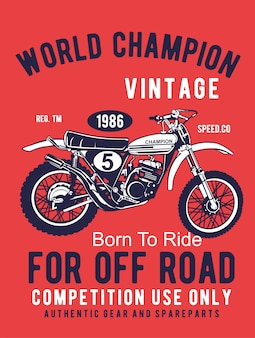Motocross sport - dessin à la main