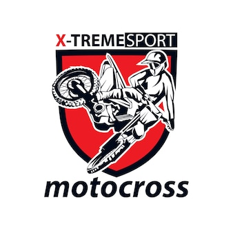 Motocross, un sport de logo d'illustration