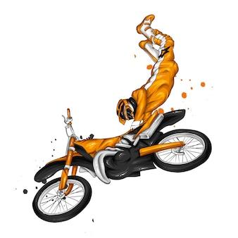 Motocycliste sur une moto