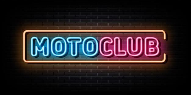 Motor club néon logo enseigne au néon