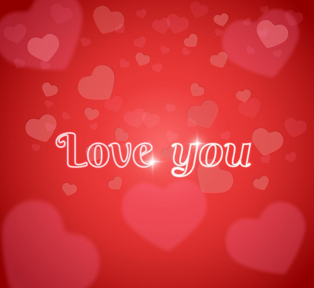 Les mots brillants vous aiment.