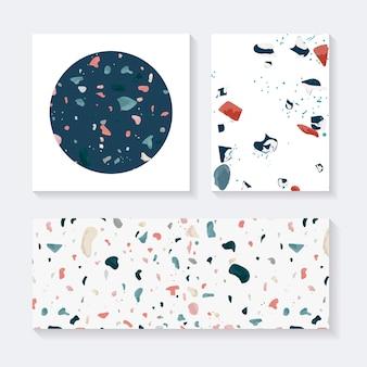 Mots-clés colorés terrazzo seamless pattern vector ensemble