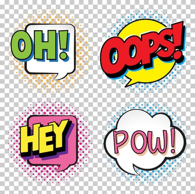 Mots d'expression pour quatre mots