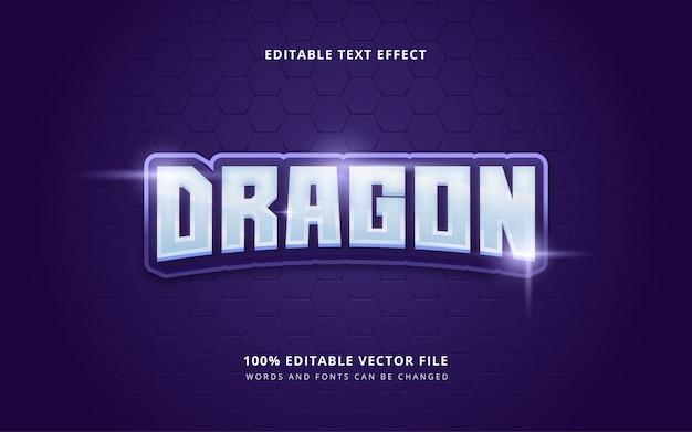 Mots et polices modifiables de style de texte e-sport dragon sport