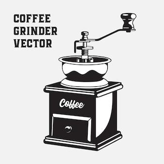 Moulin à café vintage monochrome