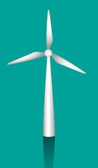 Moulins à vent blancs pour générer l'illustration vectorielle de l'énergie