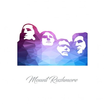 Mount rushmore monument polygon logo