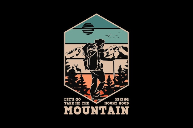 .mountain, design style rétro glauque