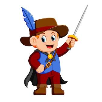 Mousquetaire avec épée
