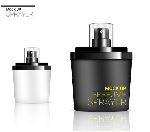 Mousse cosmétique ou de savon de parfum réaliste de bouteille de jet