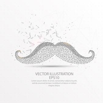 Moustache basse en fil de fer.