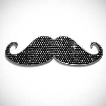 Moustache brillante