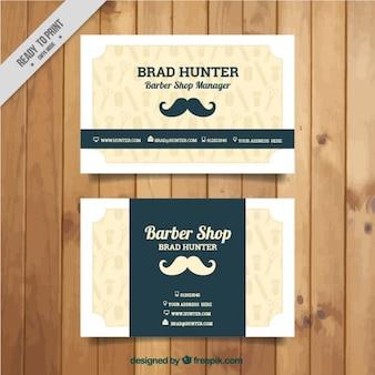 Moustache carte de salon de coiffure