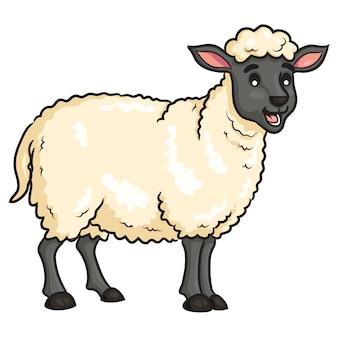 Mouton mignon dessin animé