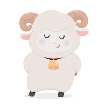 Mouton mignon souriant
