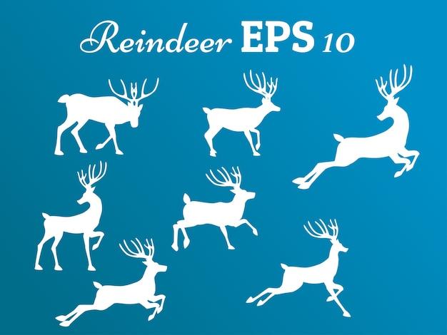 Mouvement de collection de renne, hiver, noël, nouvel an