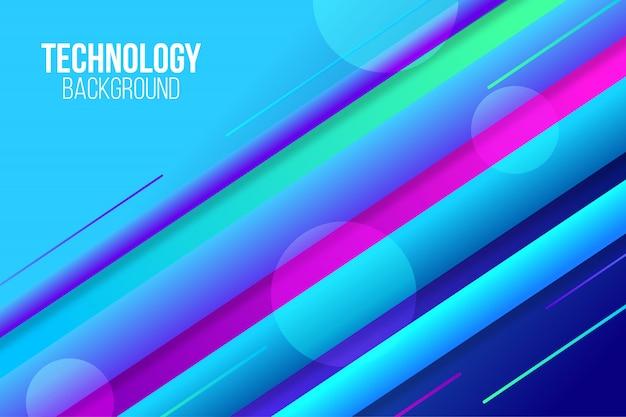 Mouvement de fond abstrait technologie