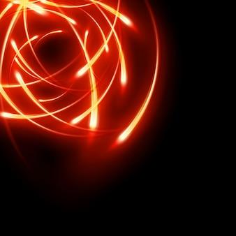 Mouvement lumineux abstrait futuriste floue les courbes de néon.