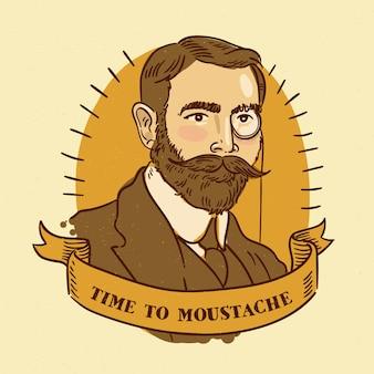 Movember concept au design plat