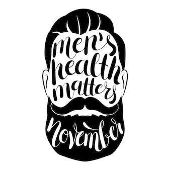 Movember concept avec lettrage