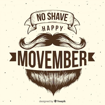 Movember design background avec la barbe de hipster
