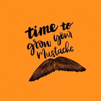 Movember design background avec moustache