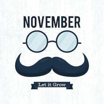 Movember plat laisse pousser la moustache