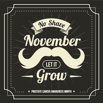 Movember vintage moustache