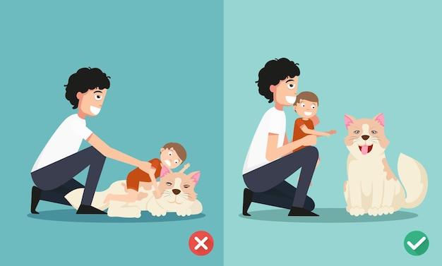Moyens pour les parents de prendre soin du nouveau-né tout en jouant avec le chien