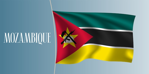 Mozambique, agitant le drapeau, illustration