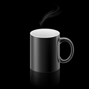 Mug noir sur fond noir