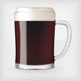 Mug réaliste avec de la bière