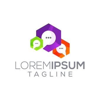 Multi chat box media modren logo
