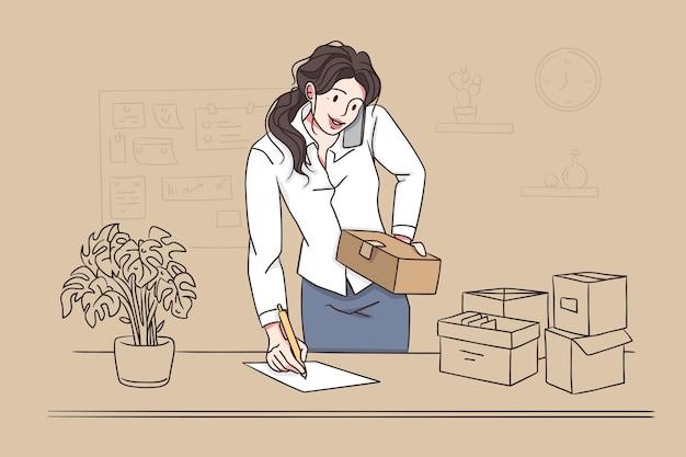 Multi-tâches dans le concept de bureau