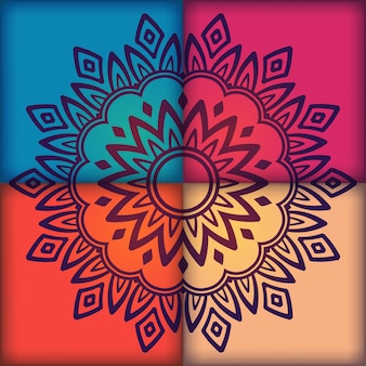 Multicolor mandala background design