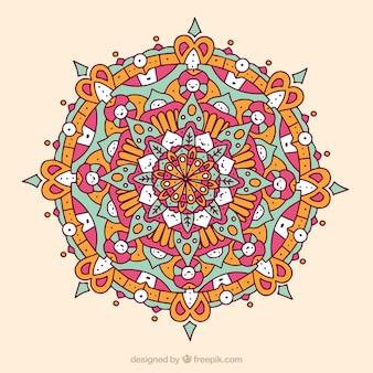 Multicolor mandala background