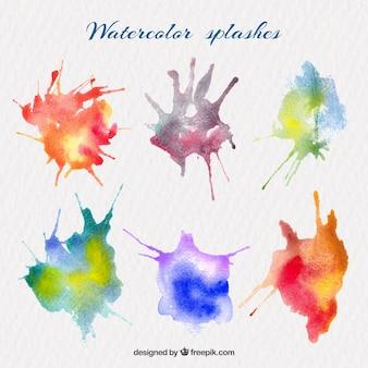 Multicolor projections d'aquarelle