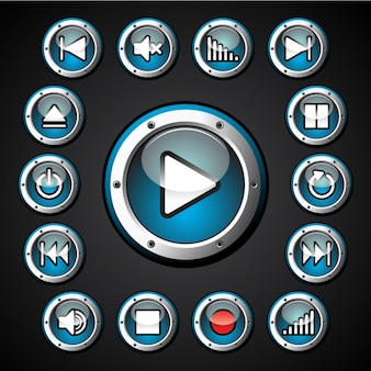 Multimedia buttons collection