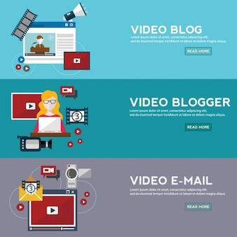 Multimedia design bannières