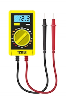 Multimètre numérique avec sonde de mesure.