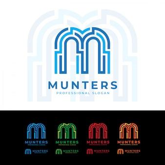 Munters m letter technology logo